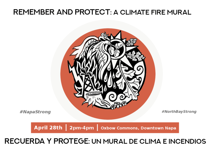 Climate Fire Mural Postcard